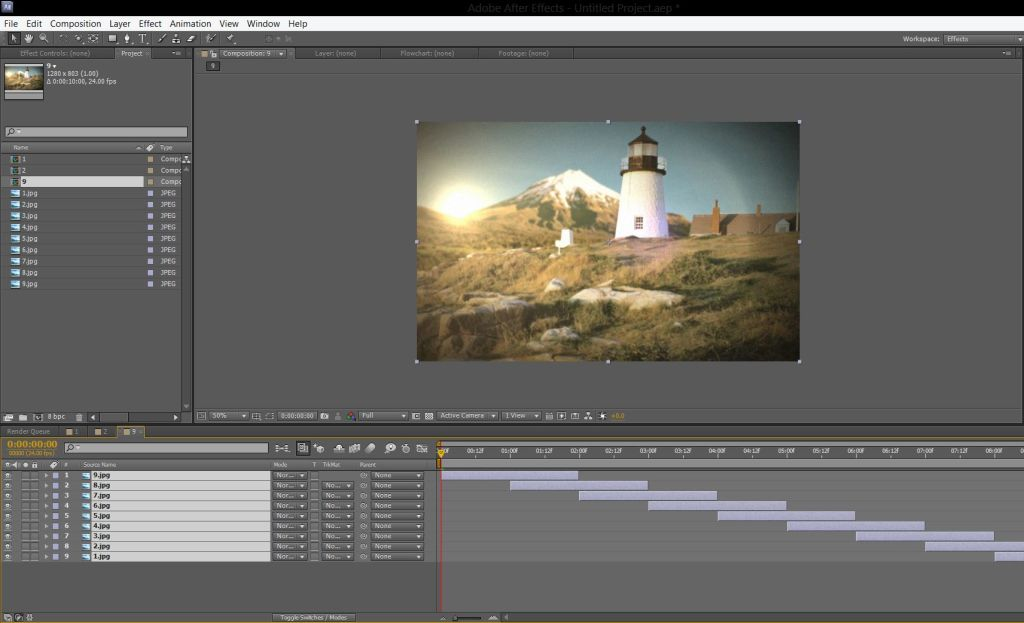 Slideshow video after effects5