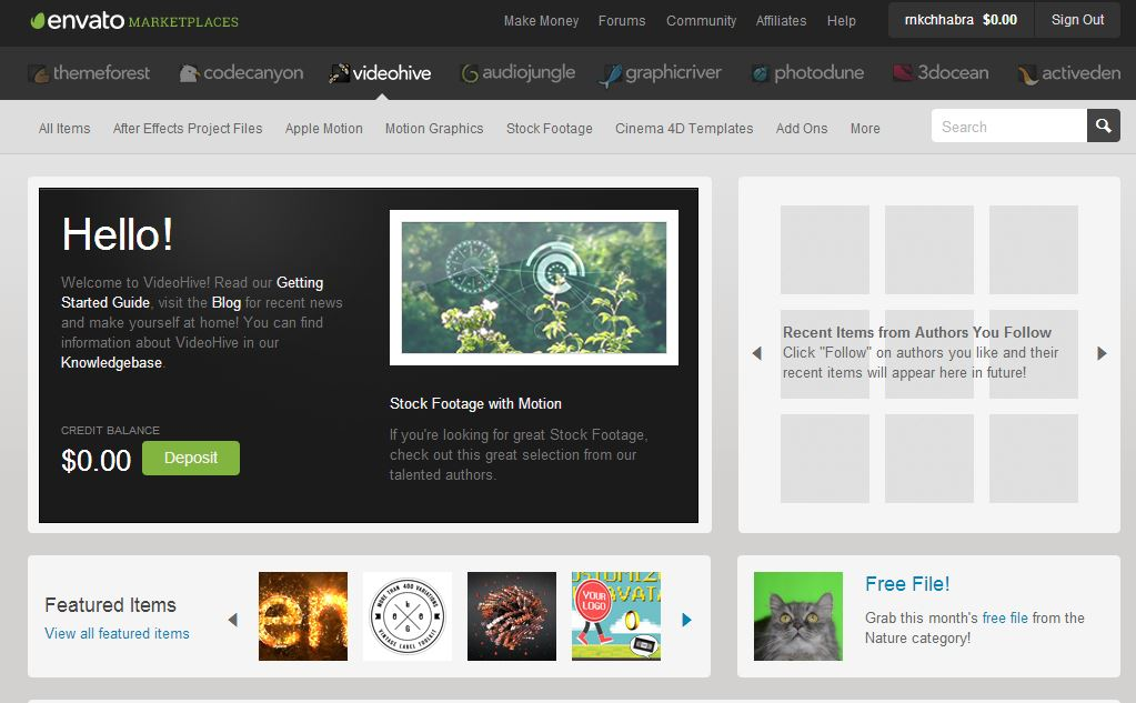 videohive Online Marketplace