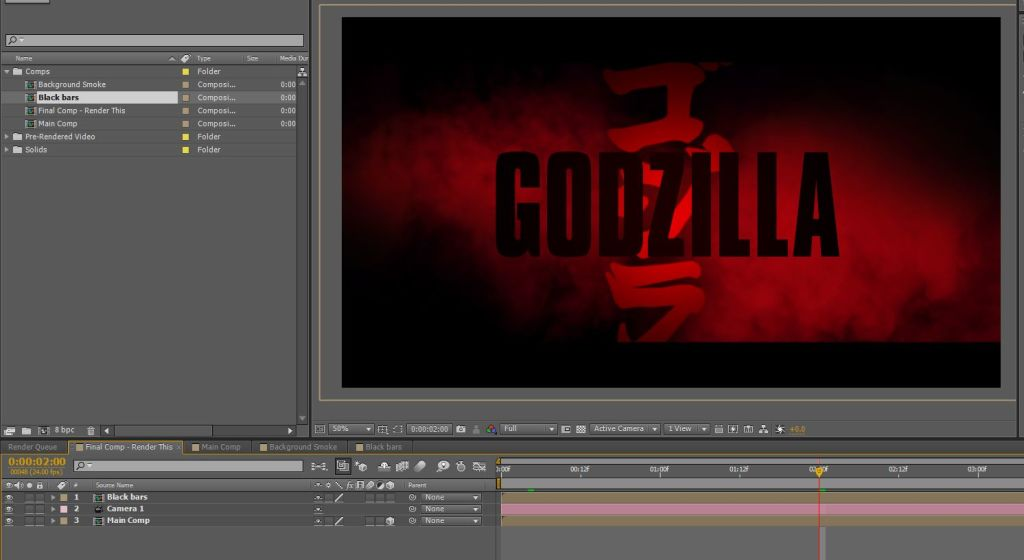 godzilla movie after effects template4