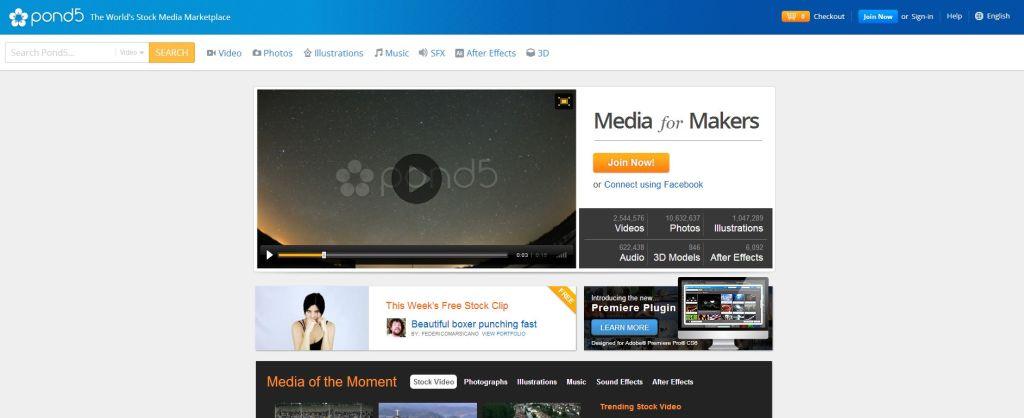 pond5 Online Marketplace