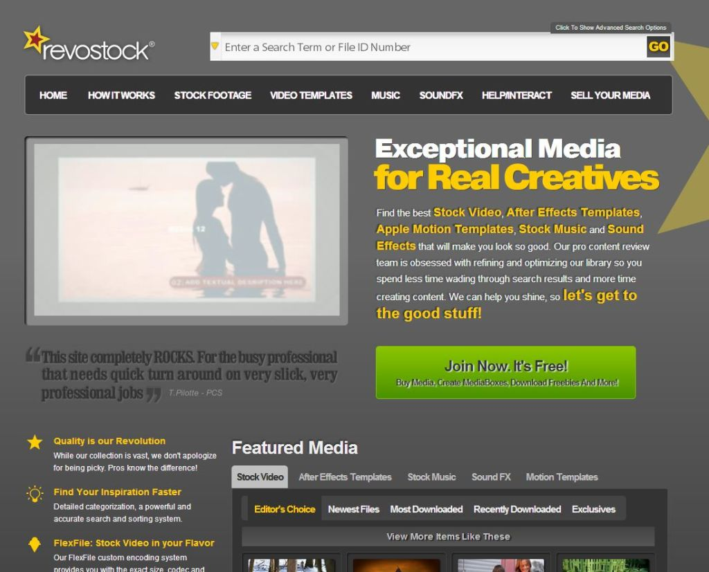 revostock Online Marketplace